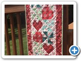 Designed, pieced and quilted by Natalie Crabtree for Keepsake Quilting kit
