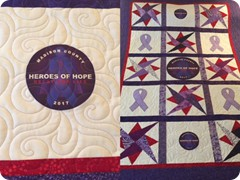 Pieced and quilted by Quilting Matilda-Madison Co Relay for Life raffle quilt