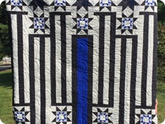 Thin Blue Line Pieced by Natalie Crabtree and quilted by Quilting Matilda