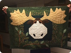 Appliqued and pieced and free motin quilted by Quilting Matilda