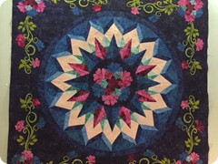 Pieced, appliqied and quilted by Quilting Matilda